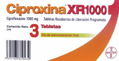 ciproxina 1000 mg